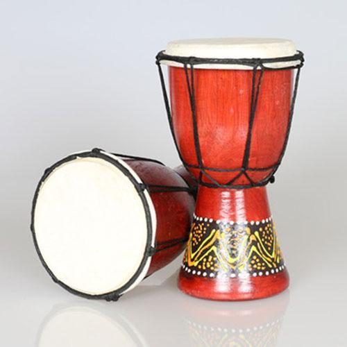 Kendang Jimbe Djembe Lukis Perkusi Alat Musik Afrika Tinggi 15 Cm