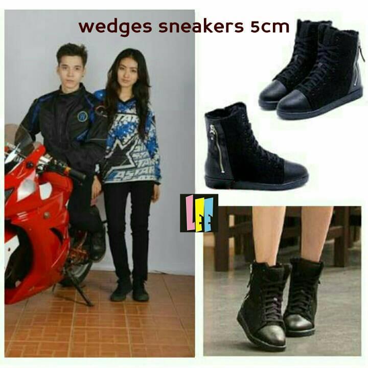 Promo sepatu wanita sneaker wedges reva natasha wilona 12 premium Fashion