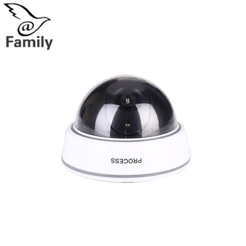 Keluarga Besar:: Profesional Pemotretan Kamera Simulasi Pemantauan Virtual LED Light Lampu Kamera Keamanan ABS Hitam/Putih-Internasional