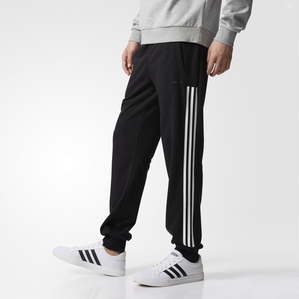 Adidas celana olahraga panjang 3 stripes tracking pant - CD2346 - hitam