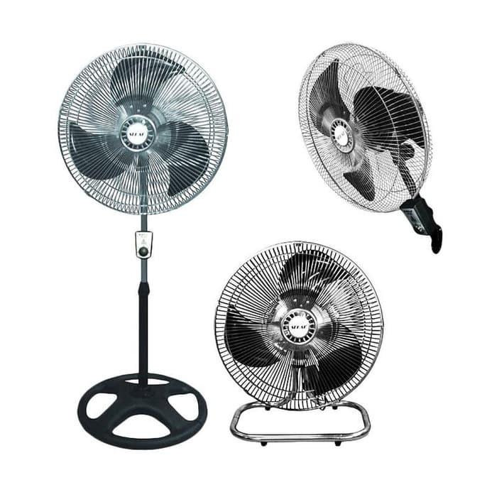 Original Sekai IST-1851 Kipas Angin Tornado 3IN1 - 18 inch Stand Wall Desk Fan