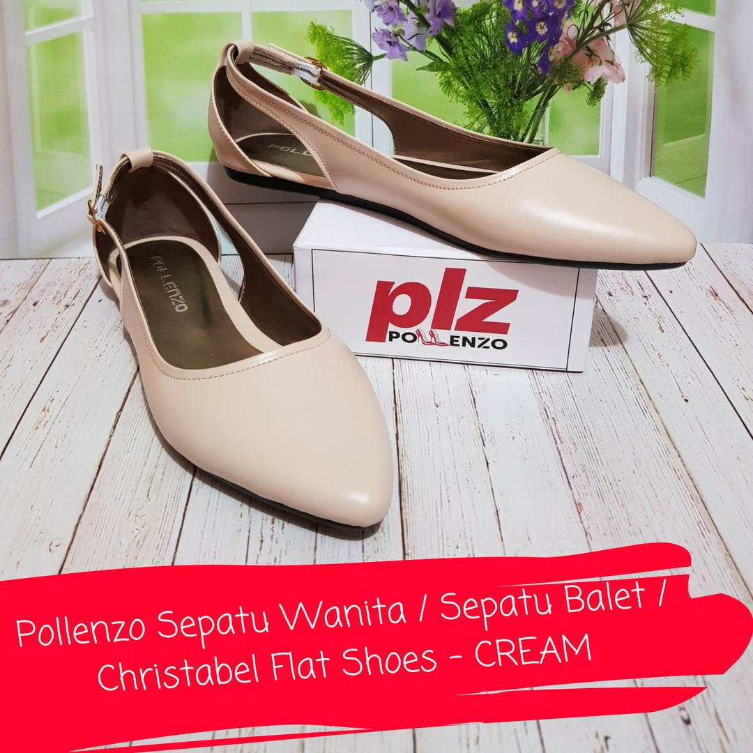 Pollenzo Christabel Flat Shoes - CREAM
