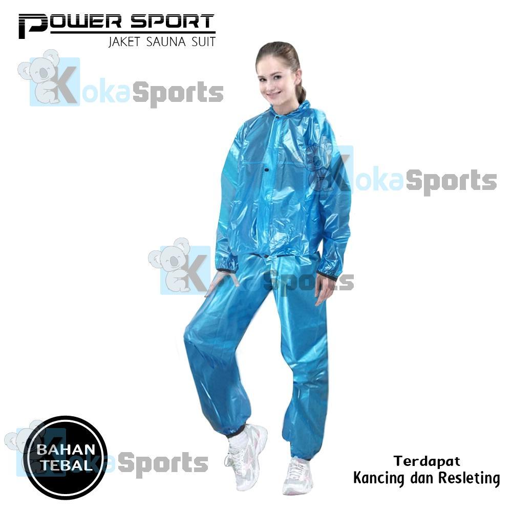Power Sport Jaket  Sauna Suit Setelan Baju Hoodie Plus Celana