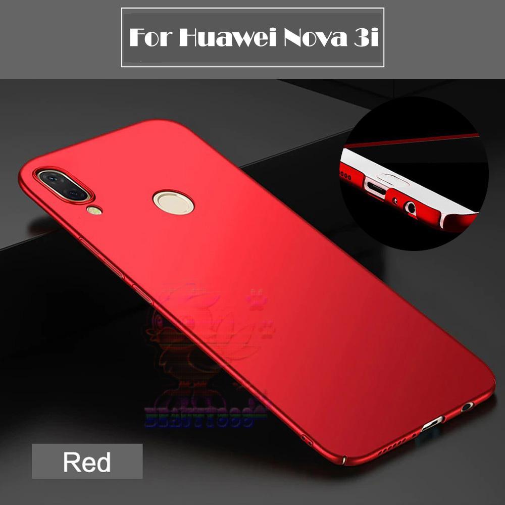 Case For Huawei P Smart+ Nova 3I Hard Slim Red Mate Anti Fingerprint Hybrid Case Baby Skin Huawei N