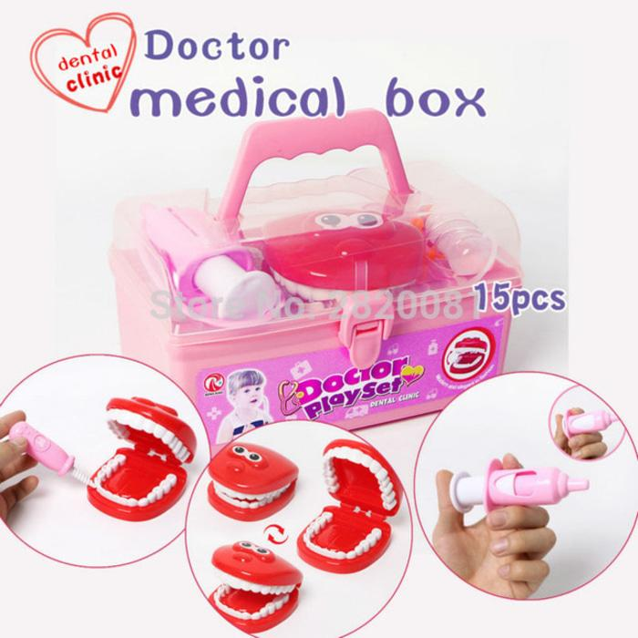 Best Seller!! Mainan Edukasi Edukatif Anak Doctor Play Set Dental Clinic Dokter Gigi - ready stock