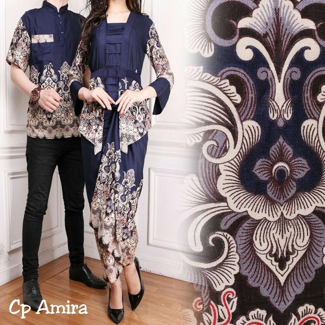 [vlyapriskila] Setelan Formal Batik Couple Fashion Pria dan Wanita