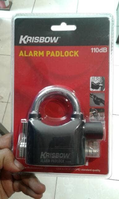 krisbow gembok alarm padlock | ( gembok alarm motor anti maling koper sepeda pagar cakram kinbar kode tas mobil clock rumah sensor gerak pintu digital remote lock bht ) |