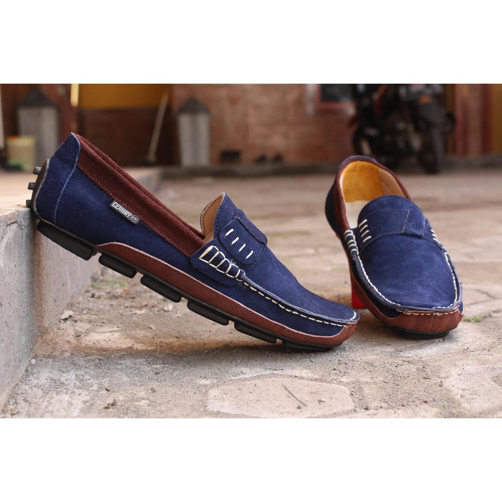 BEST SELLER !!!!!!! Sepatu Casual Slip On Mocasin Clarks Suede VB1