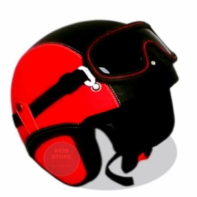 SM Shop - Helm Dewasa Masa Kini 2018 - Merah Hitam
