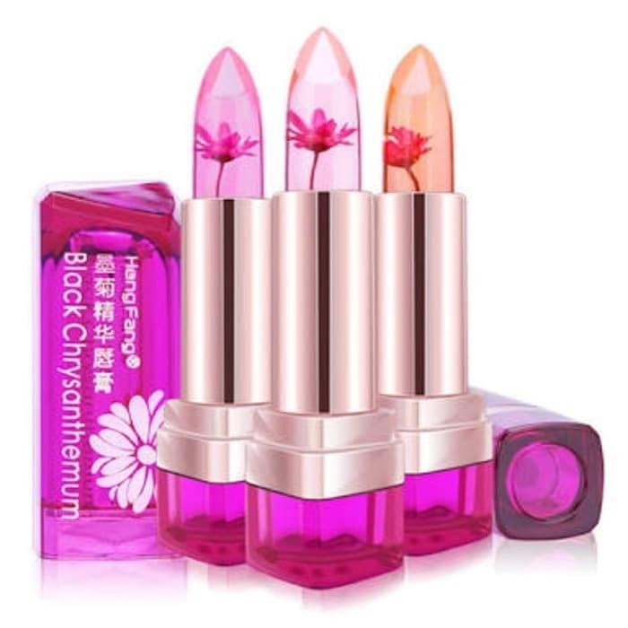 Best Seller HENG FANG Chrysanthemum Jelly Flower Lipstick / Hengfang