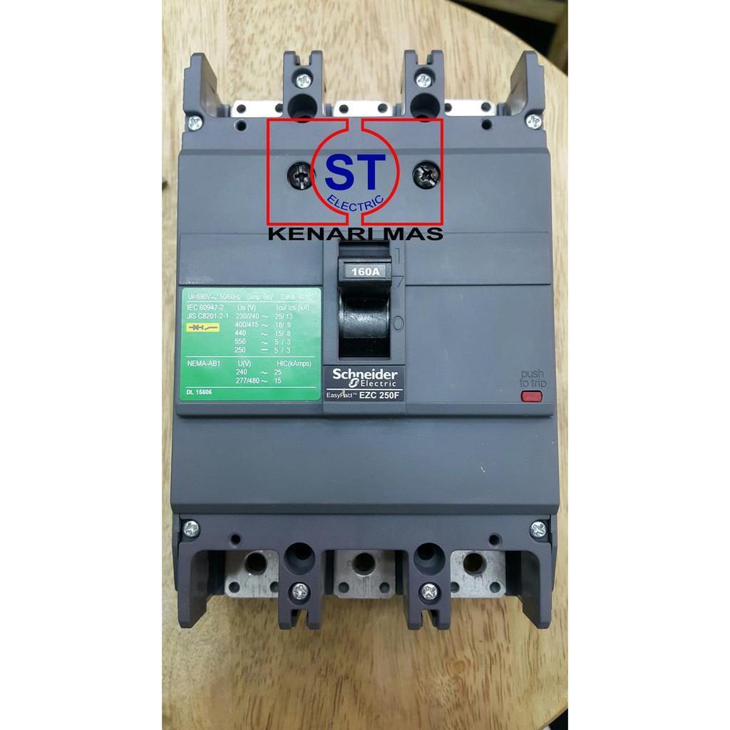 MCCB EZC250F 3X160 AMPER SCHNEIDER EAZY PACT EZC250F3160 3P 160A - ELEKTROZONE