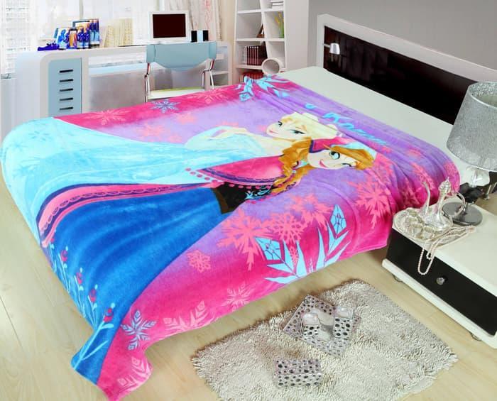 Selimut Anak 150x200cm - Frozen Pink     selimut bed cover bayi dewasa karakter bulu tebal bonita anak doraemon carter bonita