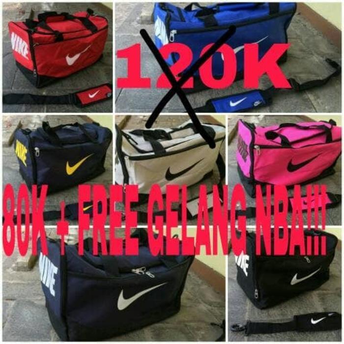ORIGINAL!!! Travel Bag Nike! DISKON + FREE GELANG - FvQnOz