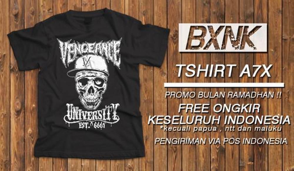 Kaos Band BIGSIZE XXXL Avenged Sevenfold Desain Vengeance University A7x