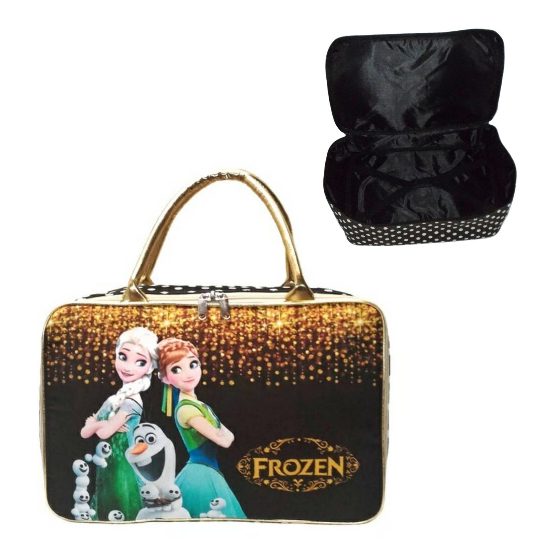Amt Travel Bag Koper Anak Kanvas Dengan Karet Pengikat Baju Hitam Gold By Baby Kiddies Corner.