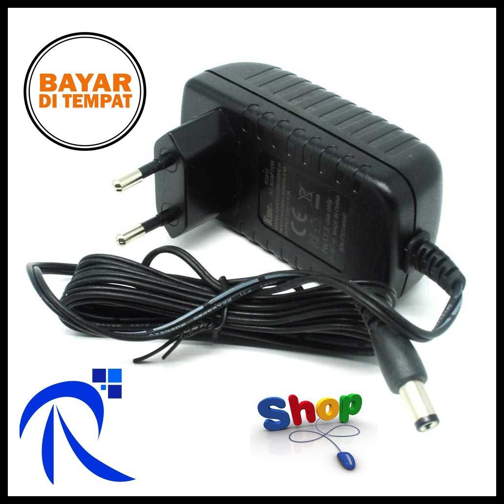 Rimas AC Adapter Alat Elektronik 12V 1A 5Mm Pin - Black / Hitam Adapter Konektor Untuk Menyalakan A