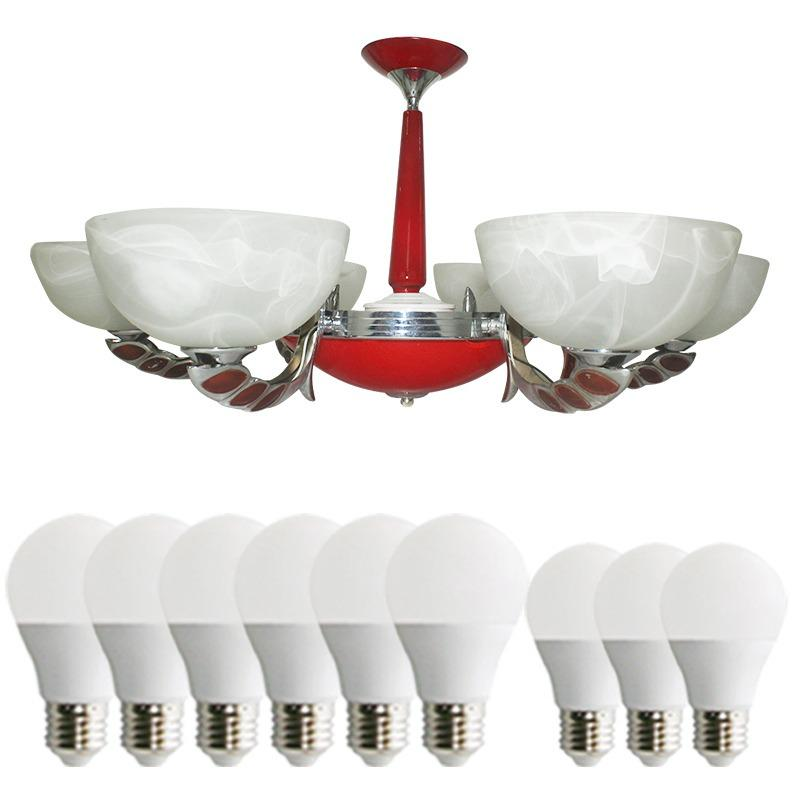 EELIC LHG-25 Lampu Hias + 3 PCS LED 3 Watt Dan 6 PCS LED 5 WATT Gantung Kap Lampu Berbentuk Mangkok Cantik