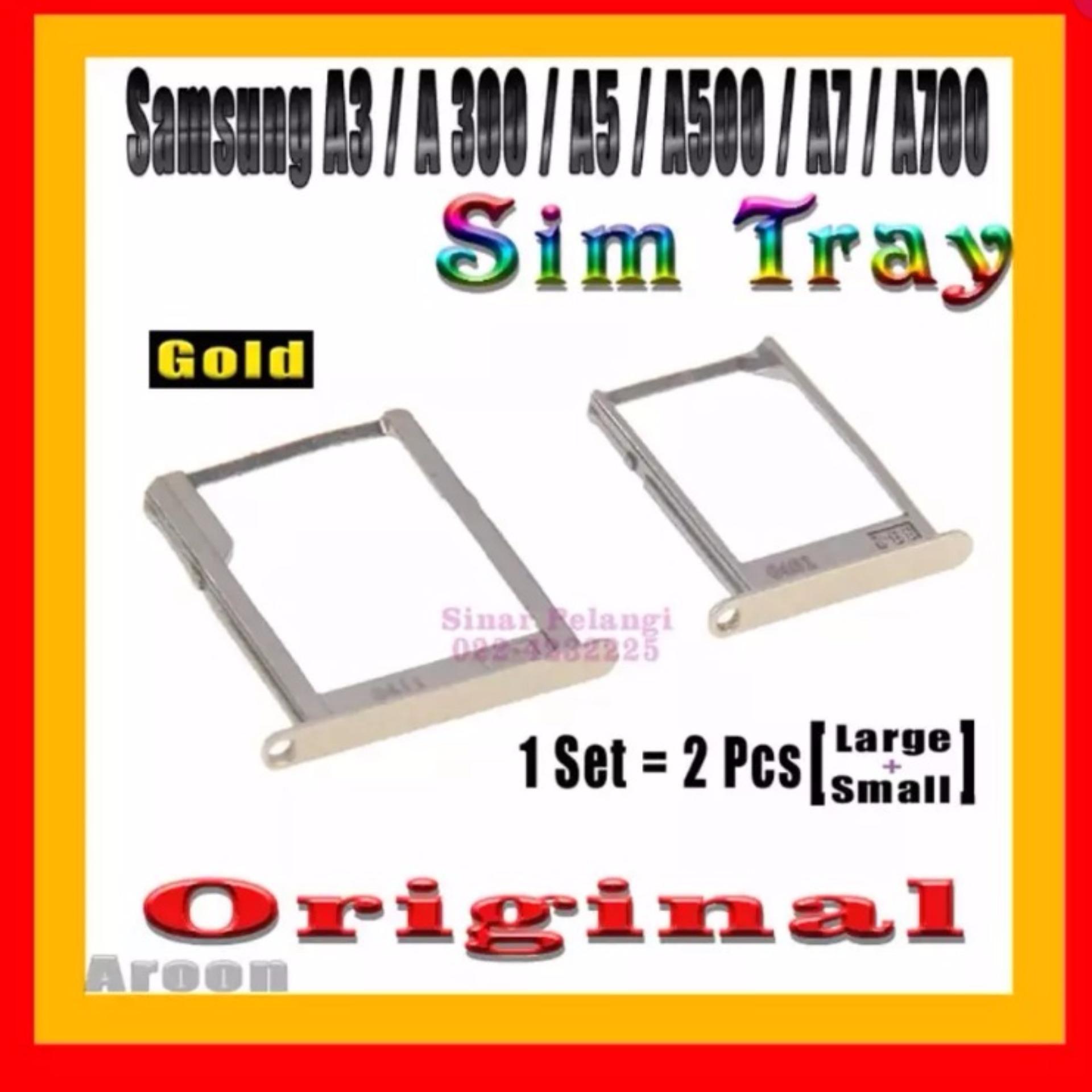 Nossy 3in1 Sim Card Adapter Tray Holder Conventer Noosy 3 In 1 Nano Micro Standart Tempat Samsung A300 A3 A500 A5 A700 A7 Gold Simlock Original 907258