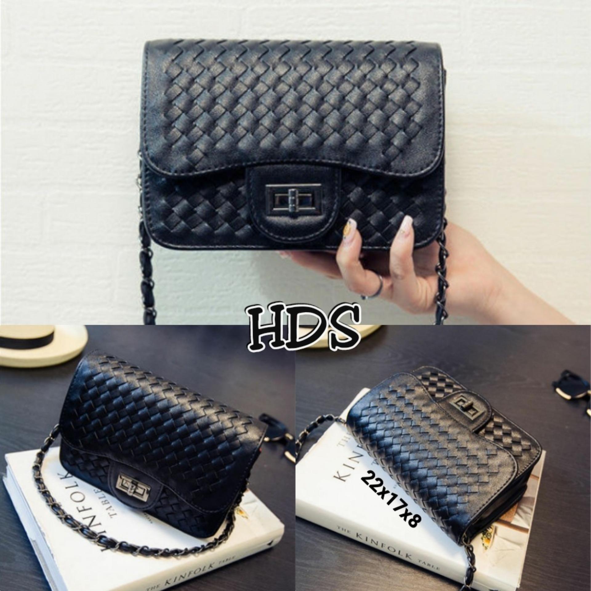 Amaryllis Sling Bag Square Korean Style Plait Locker   Tas Selempang Kotak  Wanita Korean Style 2403a1f9c7
