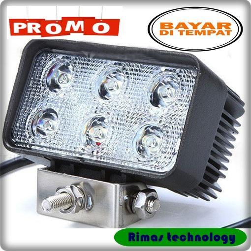 Rimas Lampu LED Headlight Mobil Offroad 18W 1260 Lumens - C18-ES - Black Keren Unik Kekinian Berkulitas Original