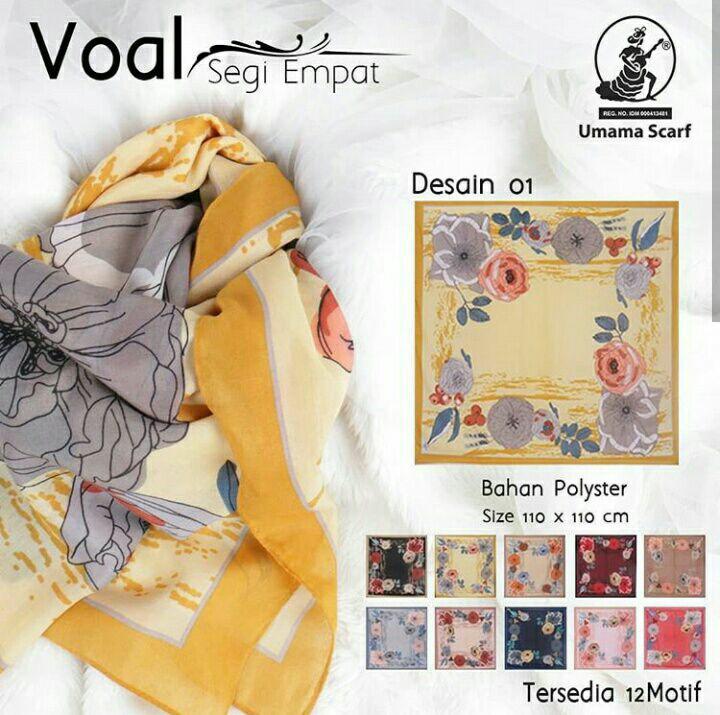 Kerudung voal by umama bahan cotton voal