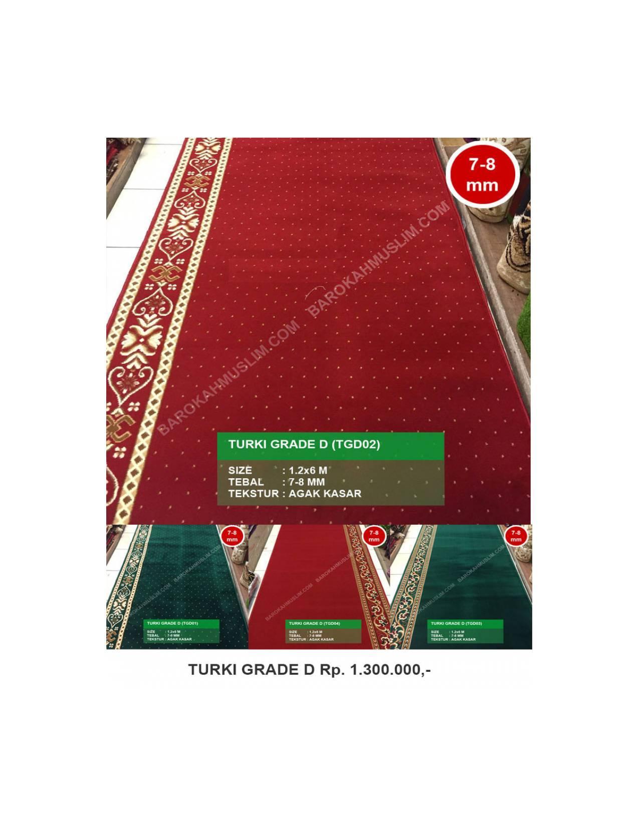 Karpet Masjid Turki Sajadah Murah Polos Grade D