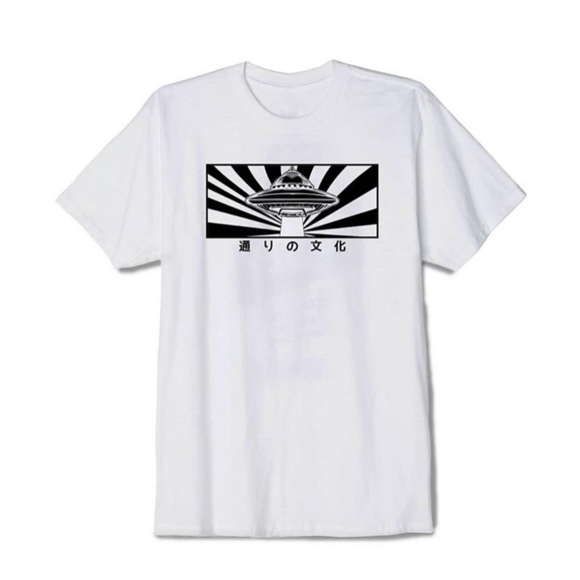 HIGH5 Fashion Pria Kaos Lengan Pendek DND PLANET JAPAN putih