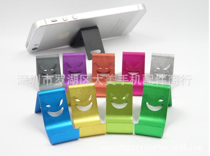 Friend Store - Stand Hp Aluminium Motif Devil Smile Glossy Lucu Unik Murah - Hcr018cx