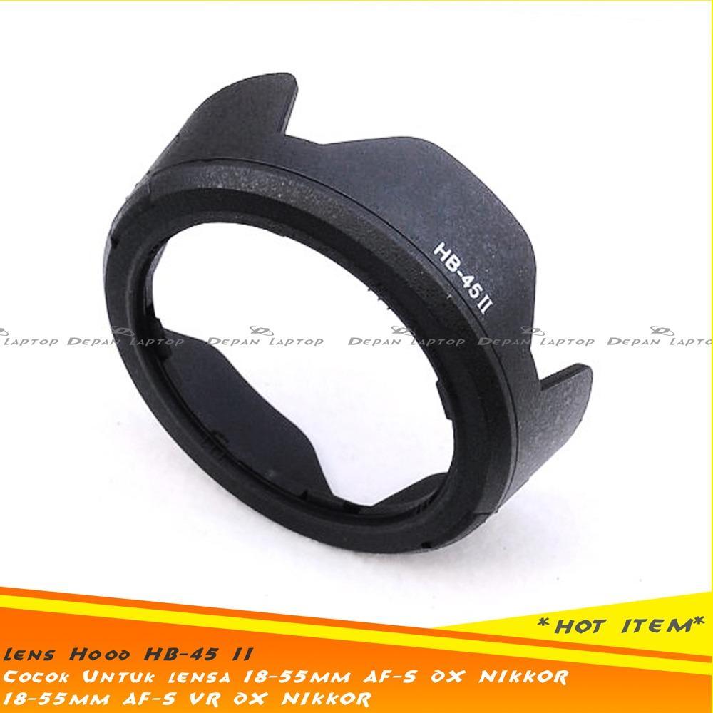 Lens Hood HB-45 II Untuk Lensa Kit Nikon AF-S DX NIKKOR 18-55Mm F3.5-5.6G VR Lens