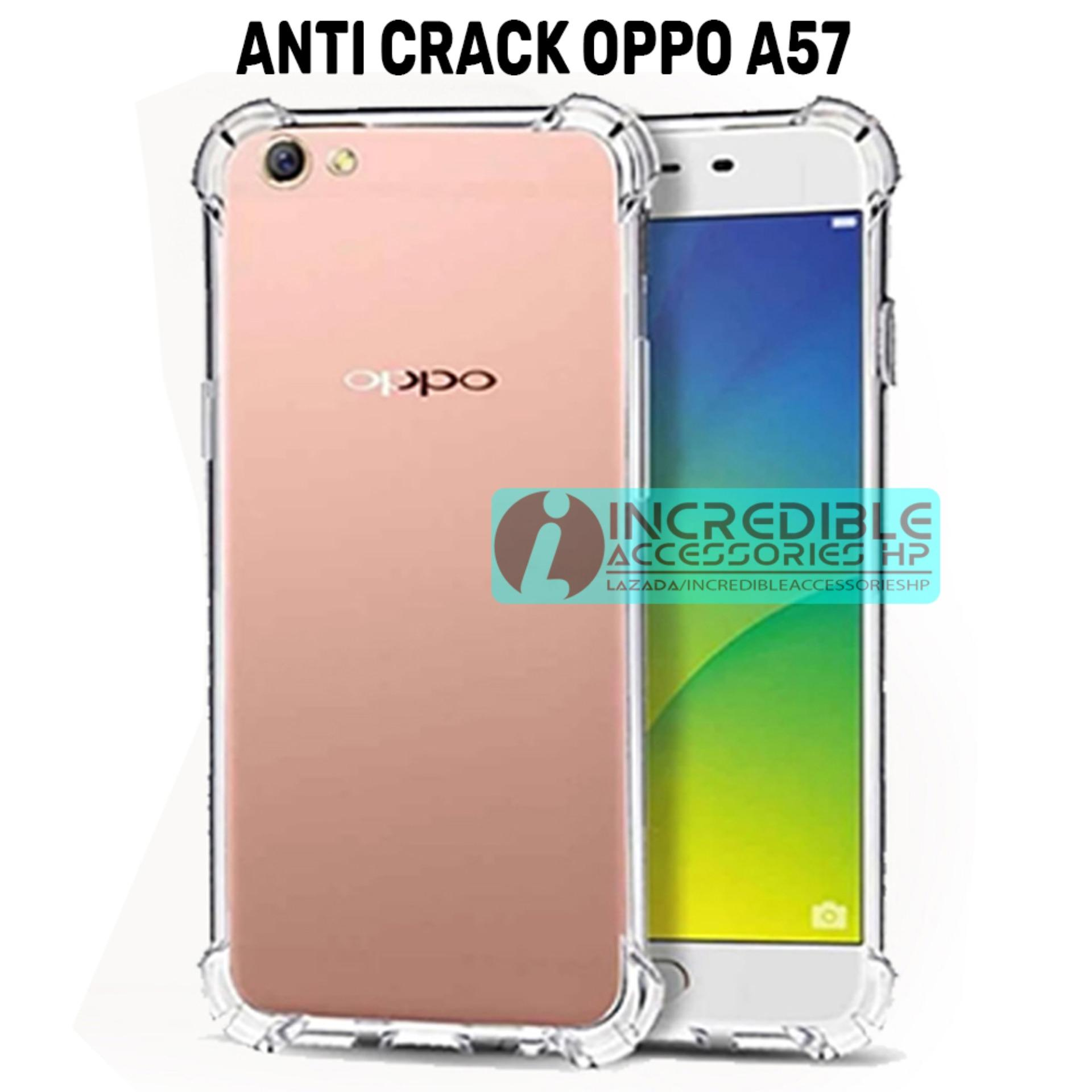 Case Anti Shock Crack Elegant Softcase For Oppo A57 White Clear Fuze F1 S A59 Putih