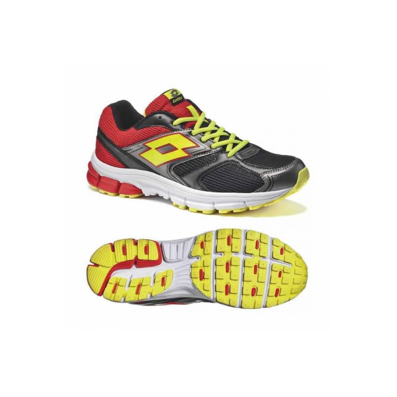 Sepatu Lari Lotto ZENITH VII - BLACK/YELLOW SAF - SR1774BY