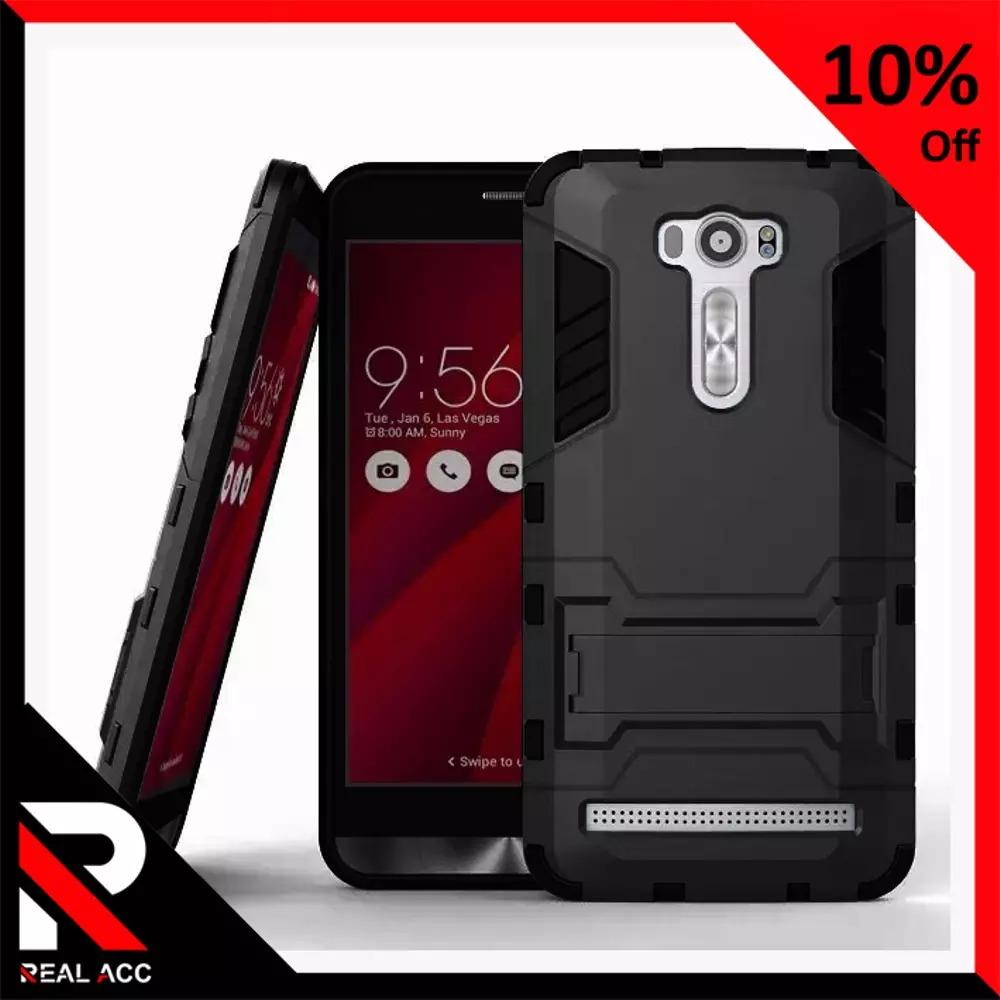 Case Asus Zenfone 2 Laser 5.5inch ZE550KL Z00LD Case Ironman Rugged Shield Armor Pitch Black Series