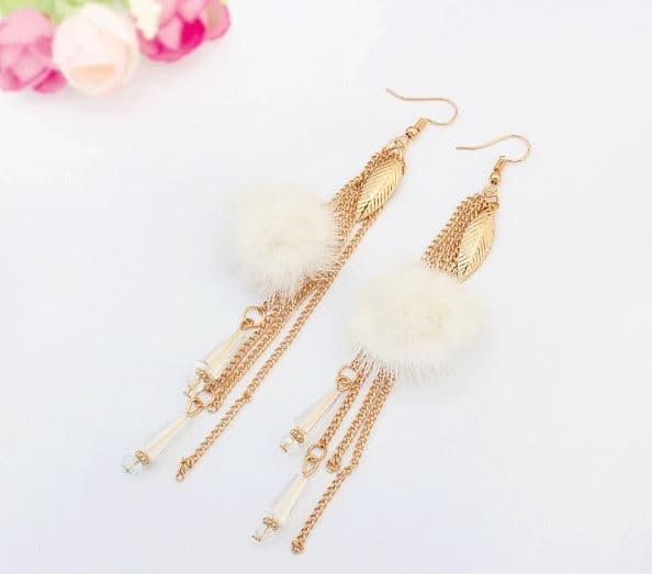 PROMO SAAT INI anting panjang fashion korea dangling earrings tassel hairball jan119 TERLARIS