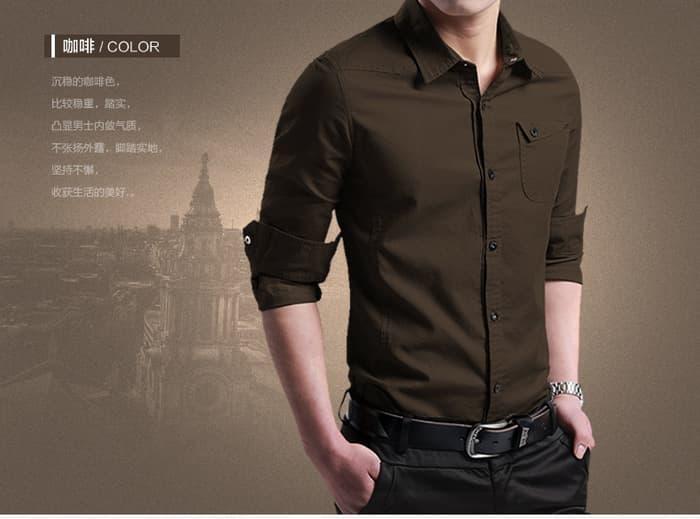 Kemeja miller coklat, baju pria bukan baju batik pria - Bx3C3p