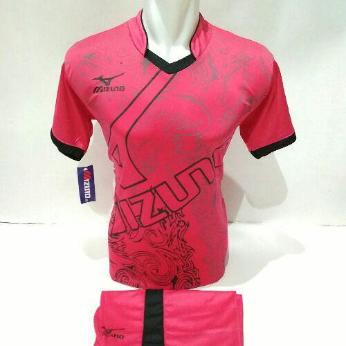 [TERLARIS MZ 16] Baju Volly Jersey Olahraga Futsal Kaos Bola Setelan Voli Mizuno Pink