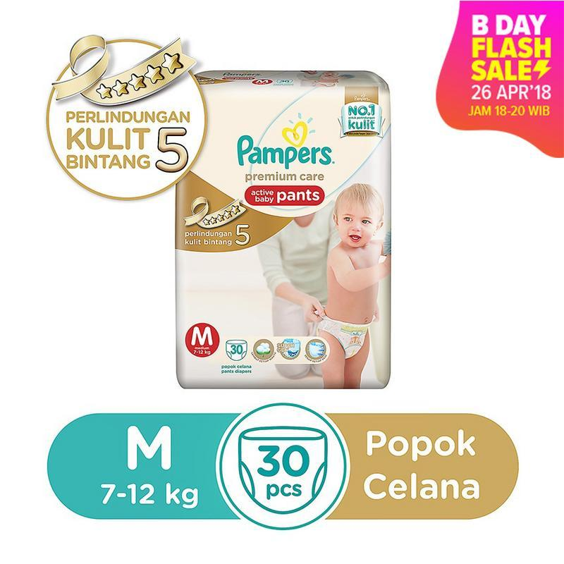 Pampers Popok Celana Size M-30 Premium Care - Popok Bayi