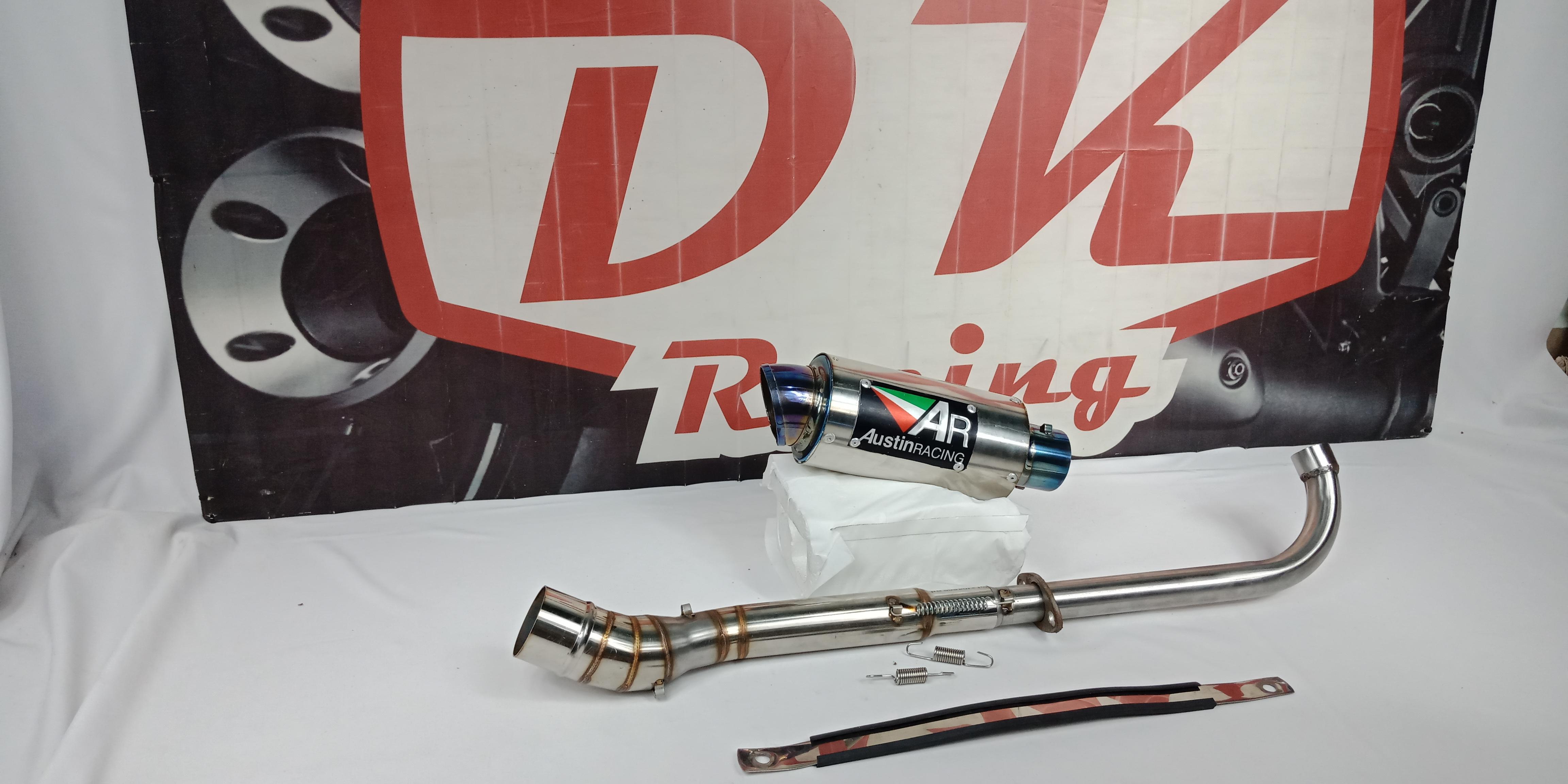 Knalpot Racing Yamaha Jupiter Austin Racing Halfblue By Dk Racing Bekasi.