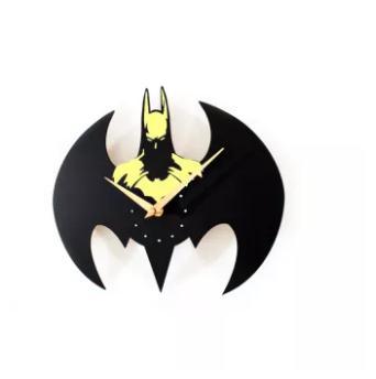 May zz Fashion Batman Jam Dinding Jam Tangan QUARTZ Batman Pemodelan Kuning Intl .