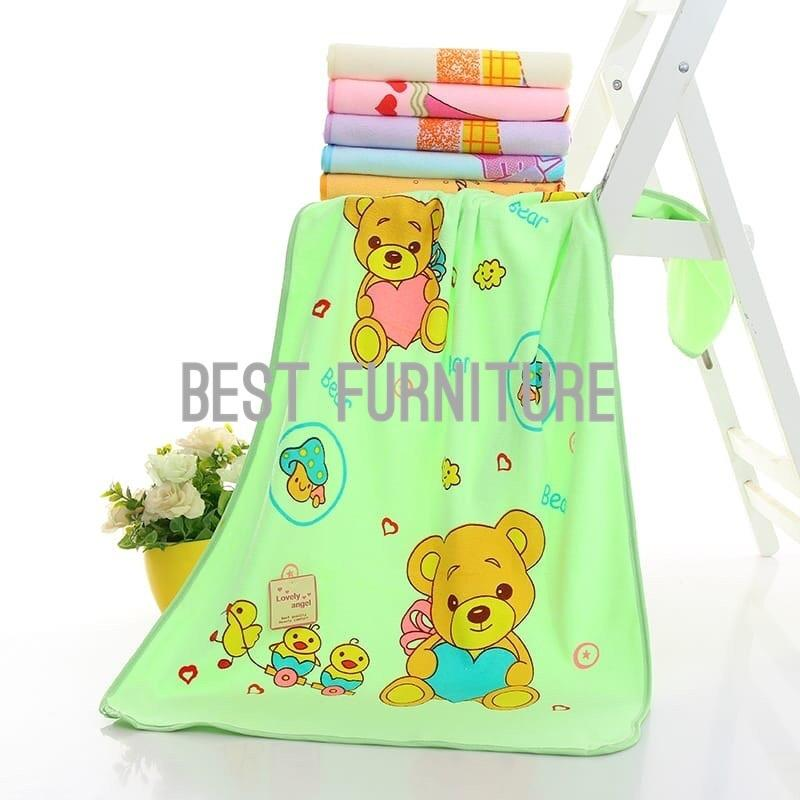 Best Handuk Bayi Microfiber Premium Quality Baby Towel Super Soft Super Lembut Uk 50x100cm - 1pc Warna Random By Best Furniture.