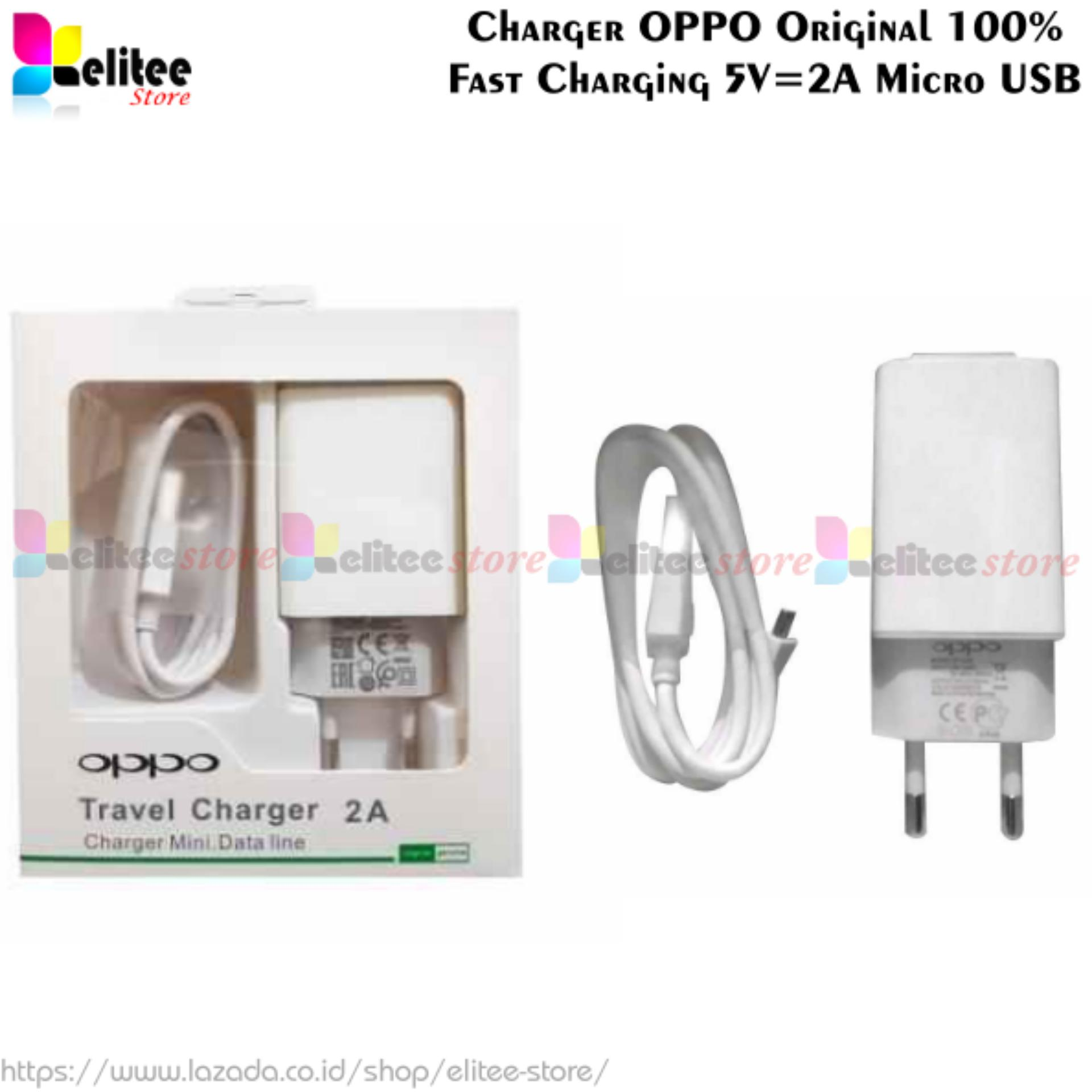Travel Charger Oppo Original 2A Fast Charging AK933GB - Charger Oppo F3 F3 Plus F3plus F1