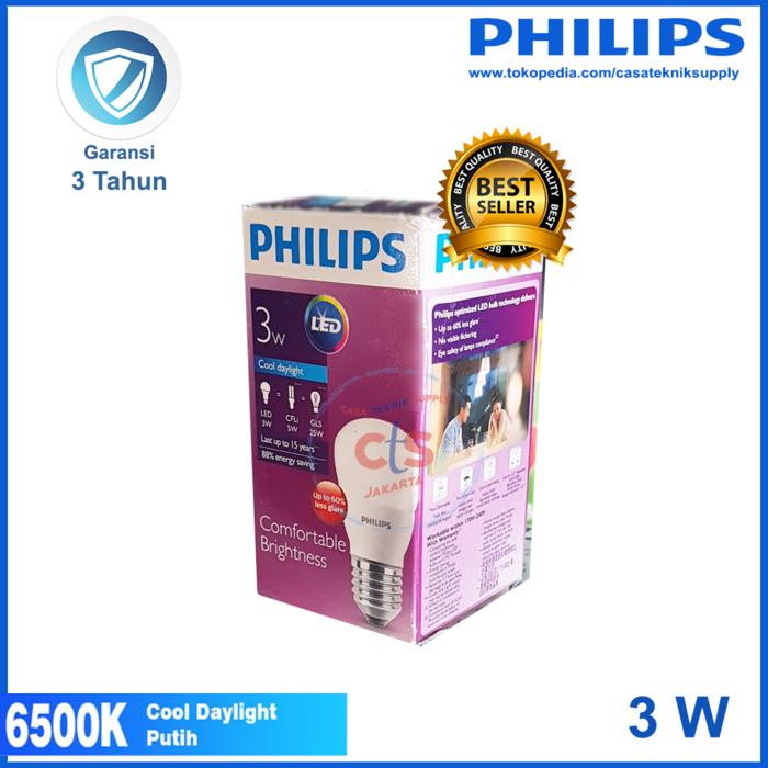 Terbaru!! Lampu Led Philips 3W 3 W 3 Watt 3Watt Putih - ready stock