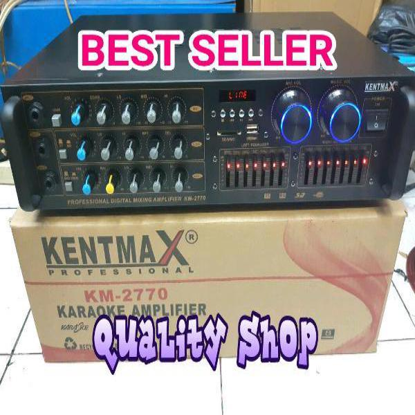 PALING MURAH POWER MIXER 3 CHANNEL KENMAX KM-2750 EQUALIZER USB SD PLAYER