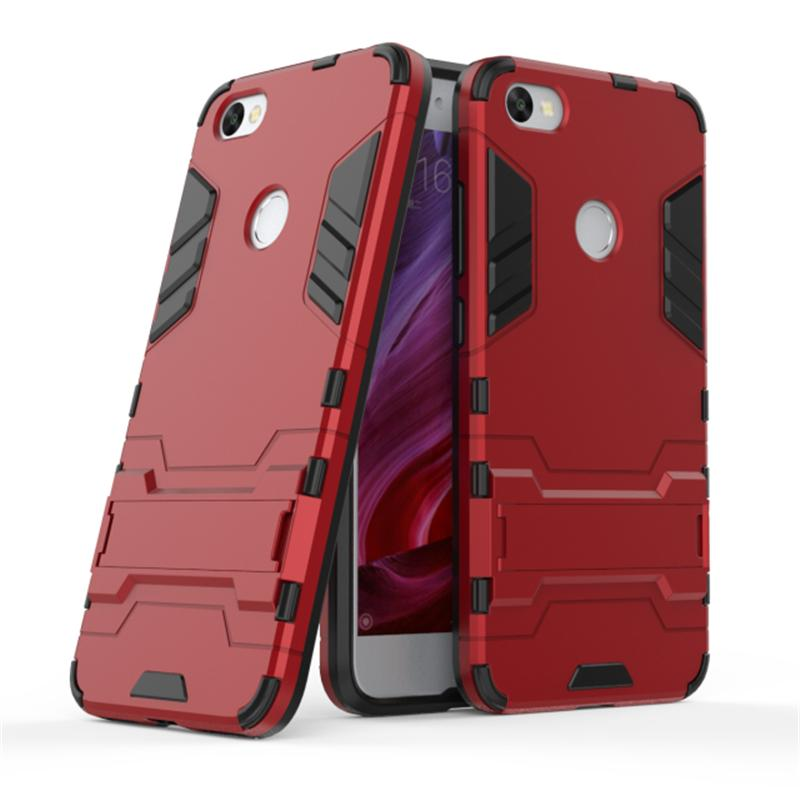 Accessories Hp ProCase Kickstand Hybrid Armor Iron Man PC+TPU Back Cover Case for Xiaomi Redmi Note