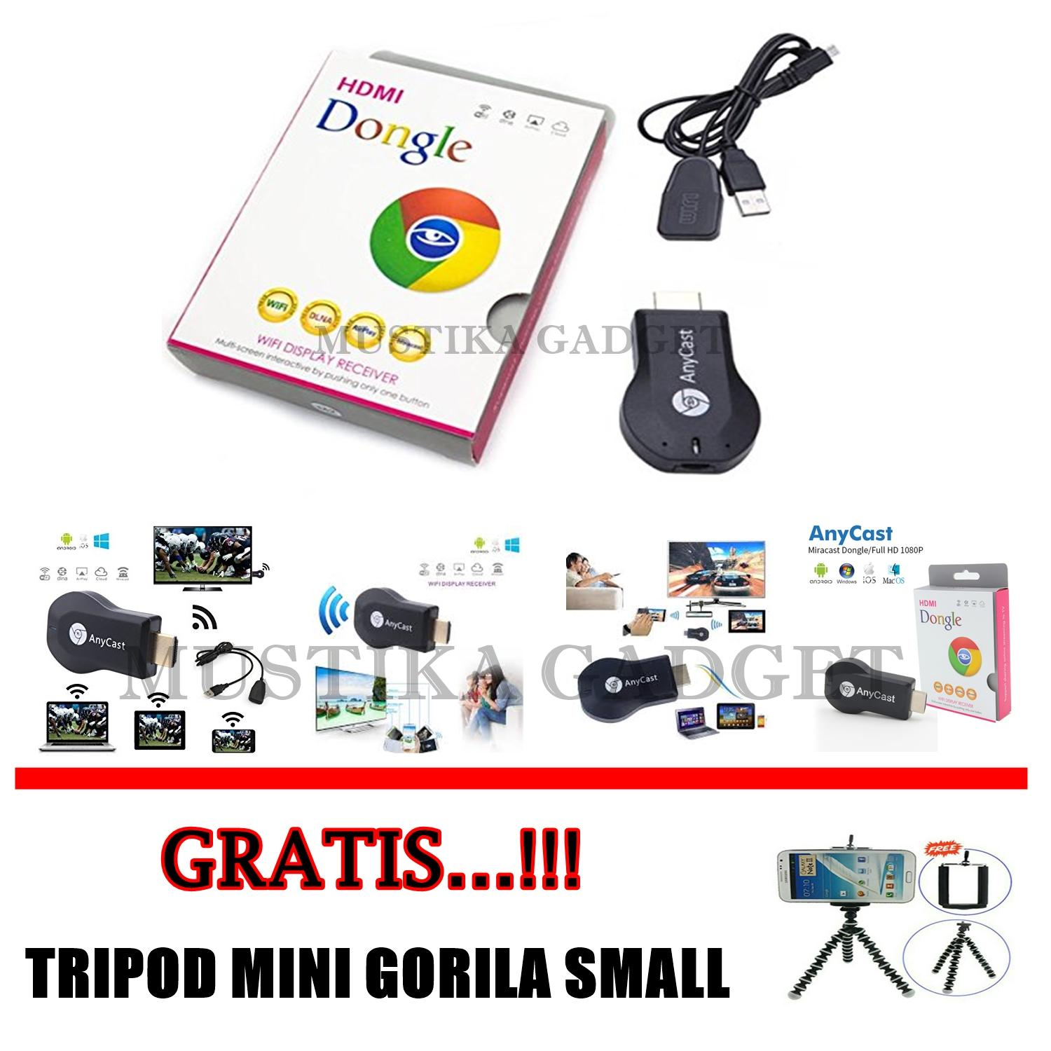 Buy Sell Cheapest Anycast Hdmi Dongle Best Quality Product Deals Wifi Display Receiver Tv Gratis Tripod Mini Gorila