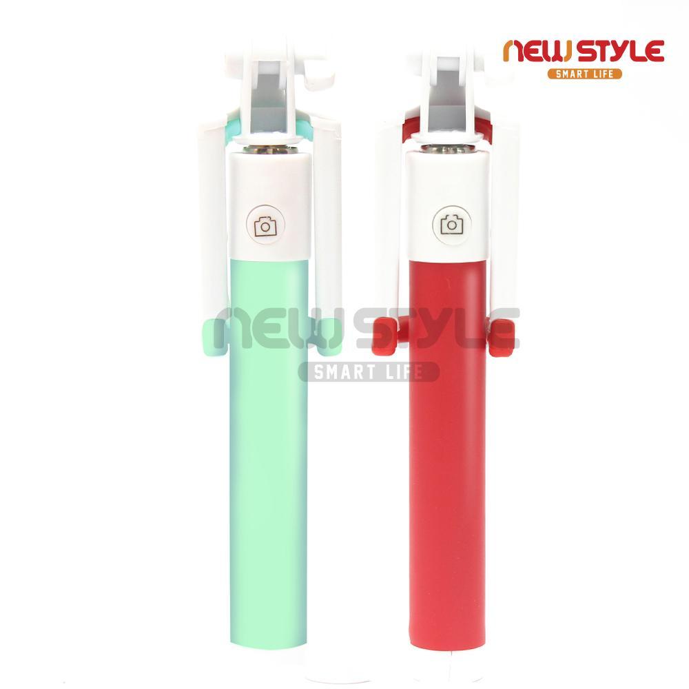 Lucky Tongsis Hitam Black Edition Tombol Lipat Monopod Spigen Selfie Stick Battery Free Wired Velo S530 Premium Macaron With Shutter Kabel