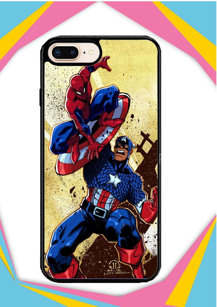 Casing iPhone 5 5S SE Custom Hardcase captain america vs spiderman Z0492 Case Cover