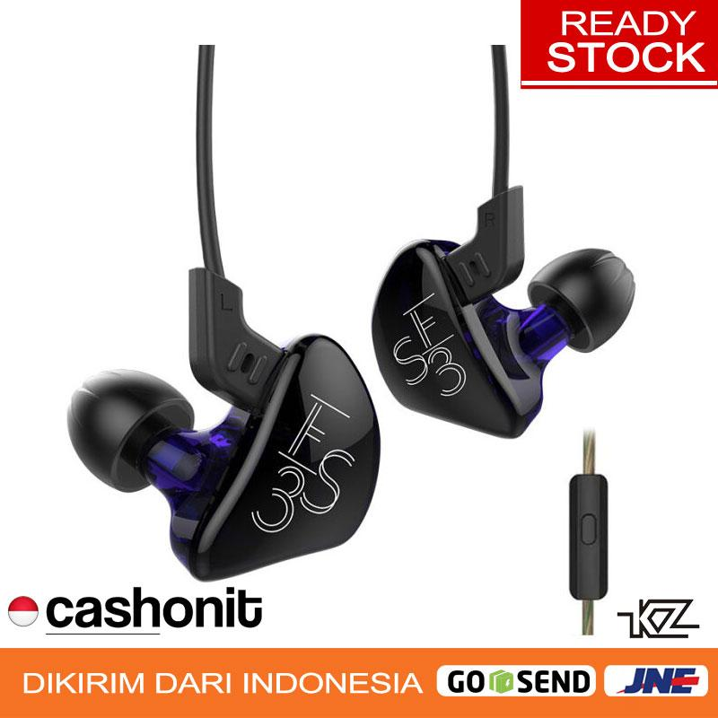 Knowledge Zenith  KZ Acoustics  KZ ES3 KZ-ES3 In-ear Detachable HiFi Earphones With Mic - Ungu