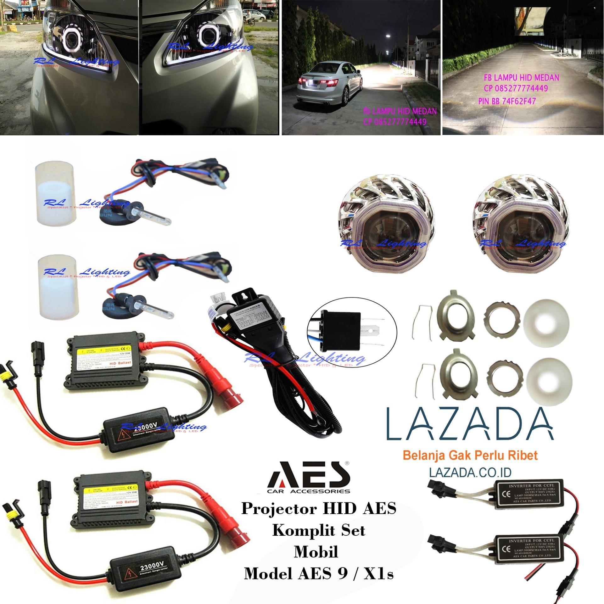 2set Projector HID Aes 9 Tipe X1s Lensa Super - Mobil