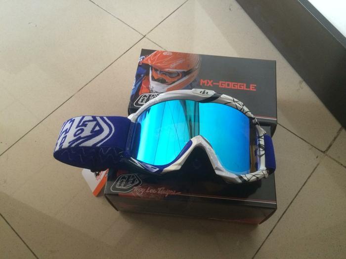 Kacamata Cross Tld Lensa Pelangi Warna Biru - ready stock