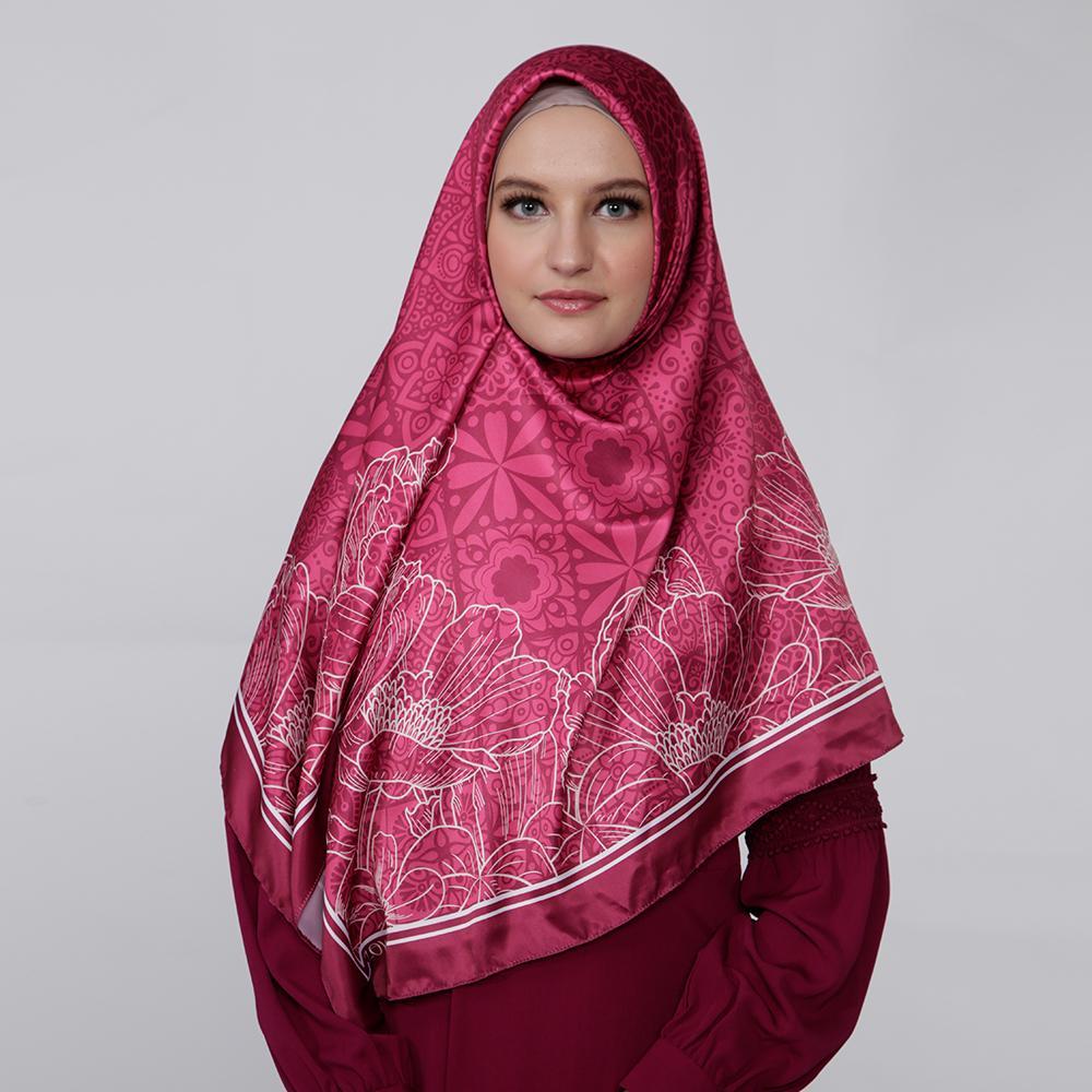 Kerudung Satin Zoya Hijab Segiempat - Saveria Scarf